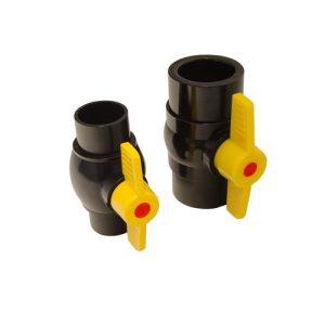 Kockney Koi Black waste Ball valves