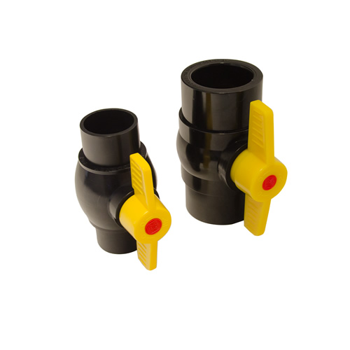 Kockney Koi Black waste Ball valves