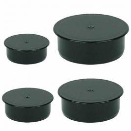 Black Waste End Caps
